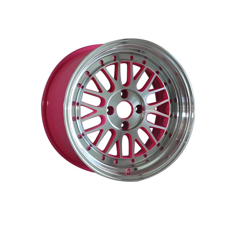 15 inch 0082 black /red/gold/pink mathine face  wheel rims PCD 8*100/114.3