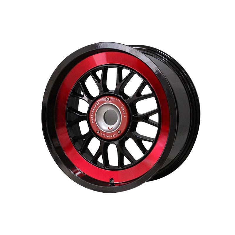 15 inch 0130 black /white color sports rims PCD 8*100/114.3