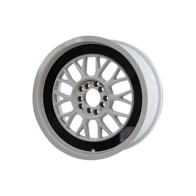 15 inch 0130 black /white color sports rims PCD 8*100/114.3