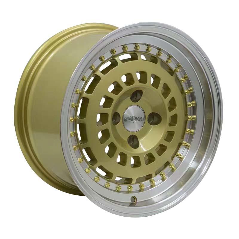 15 inch rims Rotiform  black /gold/white/bronze rims PCD 8*100/114.3