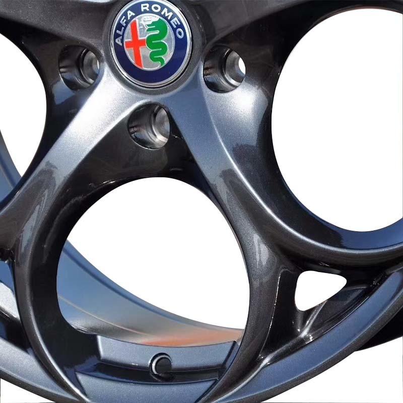 18inch wheel rims 4clover matte black PCD have 5*114.3
