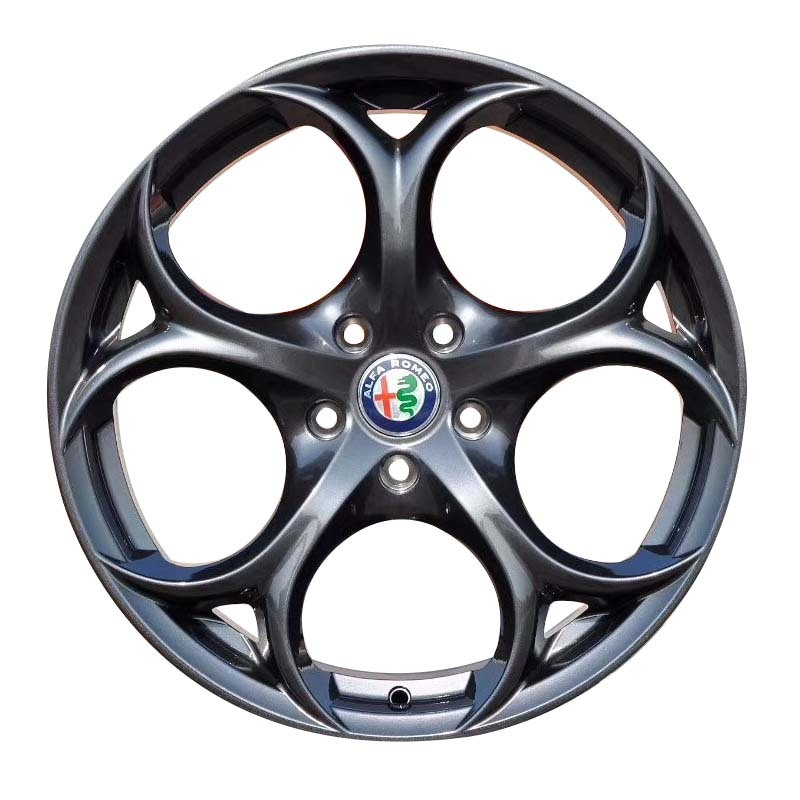 18inch wheel rims 4clover matte black PCD have 5*114.3