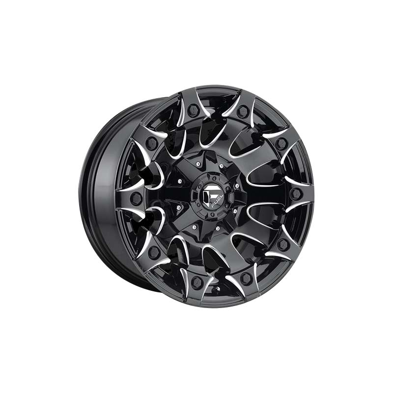 custom suv alloy wheels black with bronze face design for SUV cars-3