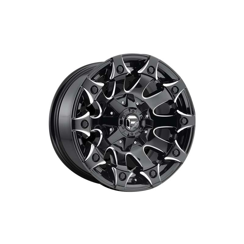 Fuel matte black with milling SUV sports wheels, 15inch 16inch 17inch 18inch, and 20inch truck wheels, and have  5*127, 6*139.7, 6*114.3