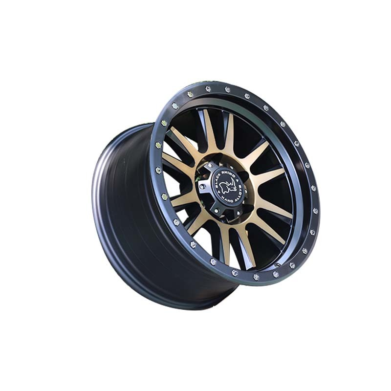 L33  black with bronze face sports wheels used for SUV car, wheels size have 15inch 16inch 17inch 18inch and 20inch, pcd have  5*127, 6*139.7, 6*114.3, etc.