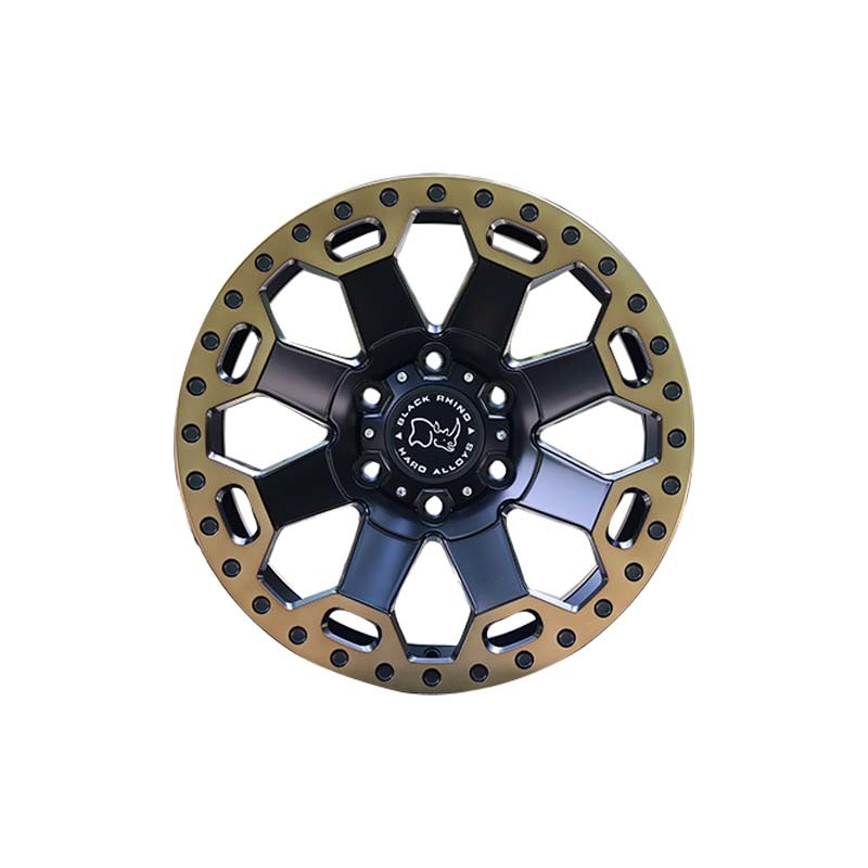 L34 black with bronze lip SUV sports wheels, popular size have  15inch 16inch .17inch  18inch and 20inch the truck wheels, pcd have  5*127, 6*139.7, 6*114.3, etc.