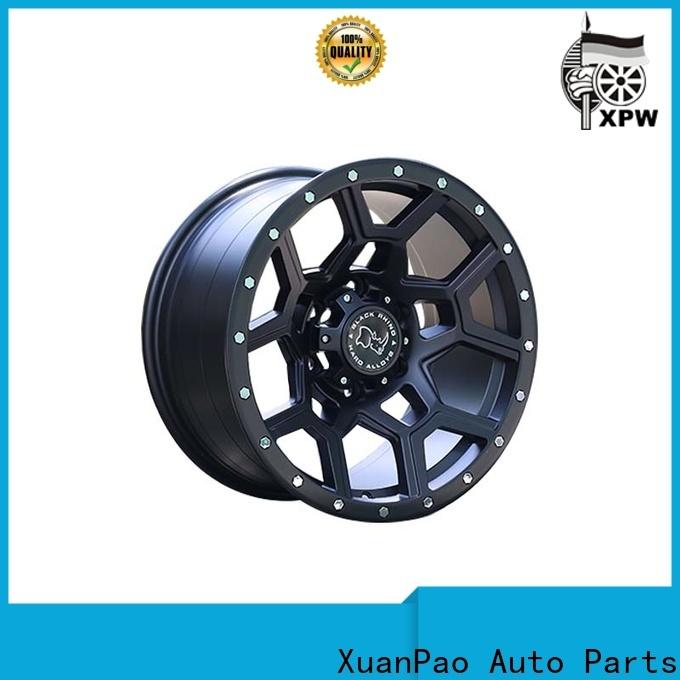 XPW durable black chrome rims for suv design for vehicle
