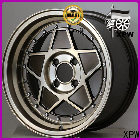 XPW long lasting 15 inch gold rims design for vehicle