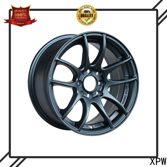 hot selling 18 inch black and chrome rims aluminum supplier for Honda series