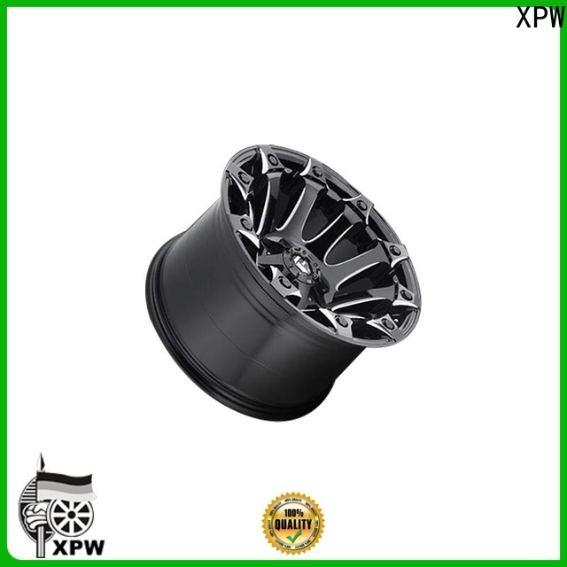 custom suv alloy wheels black with bronze face design for SUV cars