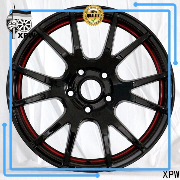 XPW cost-efficient black steel wheels manufacturing for cars