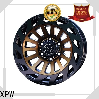 XPW black with bronze face suv rims and tires design for SUV cars