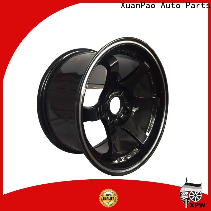 XPW high quality black steel wheels wholesale for vehicle
