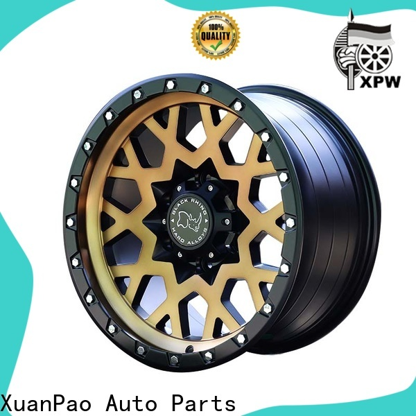 professional suv alloy wheels black with bronze face design for cars