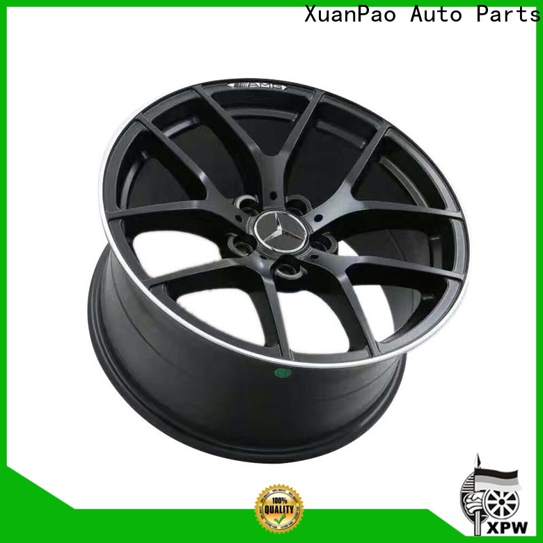 XPW matte black mercedes replica rims manufacturing for Benz car series
