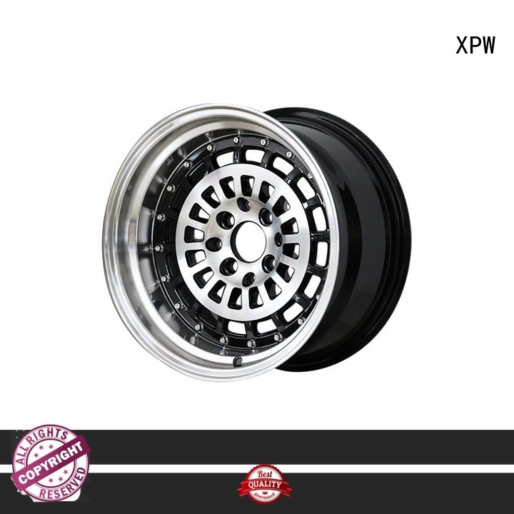 XPW black 15 alloy wheels customized for cars
