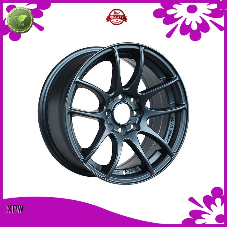 XPW silver 18 inch red rims customized for Toyota