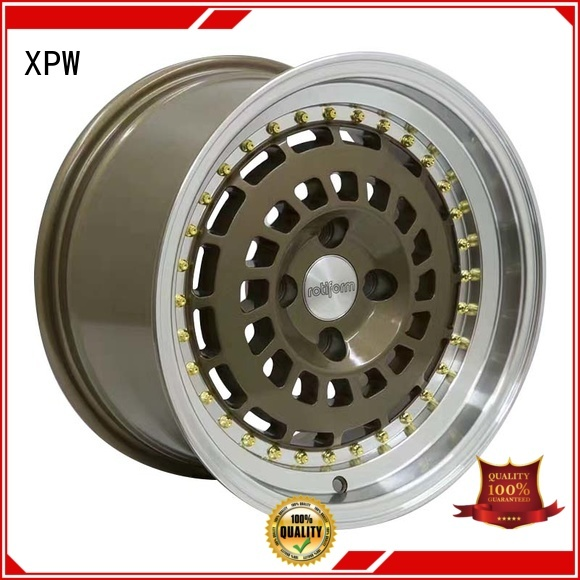 XPW fashion 15 inch black alloys customized for vehicle