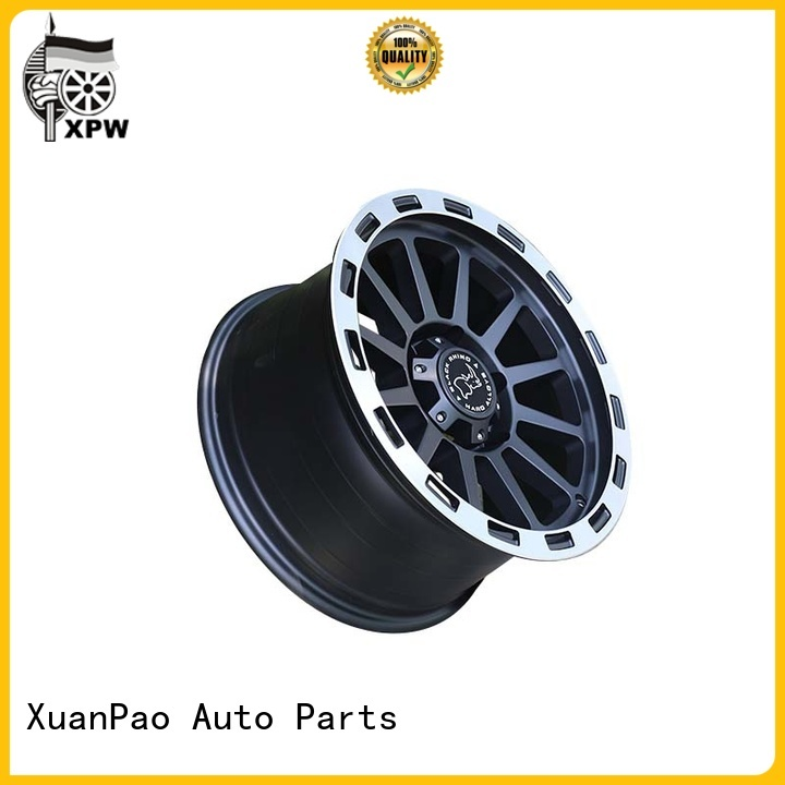 custom 20 inch suv rims black with bronze face design for vehicle