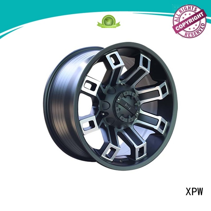 aluminum chrome rims for suv black with bronze face for SUV cars XPW