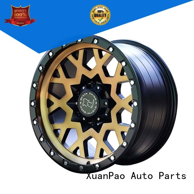 durable cheap suv rims black with bronze face design for cars