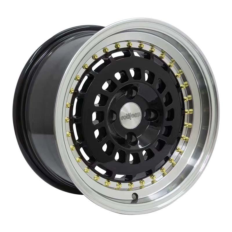 high quality 15 alloy wheels black wholesale for Toyota-2