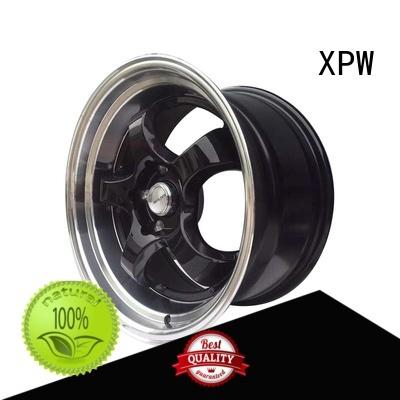 XPW black 15 inch aluminum rims manufacturing for Honda series