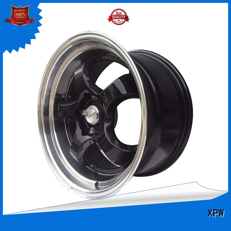 XPW novel design with beautiful shape 15 black rims customized for vehicle