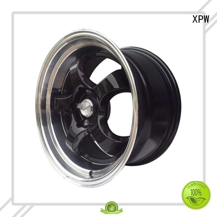XPW aluminum 15 inch black alloys design for Toyota