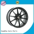 matt black 18 inch car rims silver for Honda series XPW