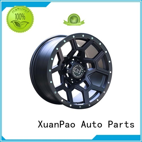 effcient 18 inch suv rims black with bronze face design for SUV cars