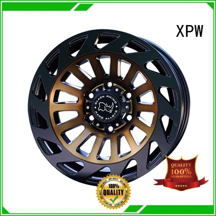 professional 18 inch suv rims black with bronze face design for SUV cars