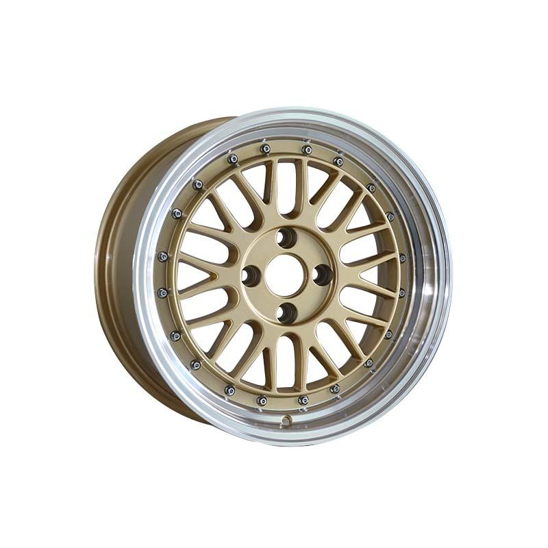 long lasting 15 inch rims 4x100 white design for vehicle-3