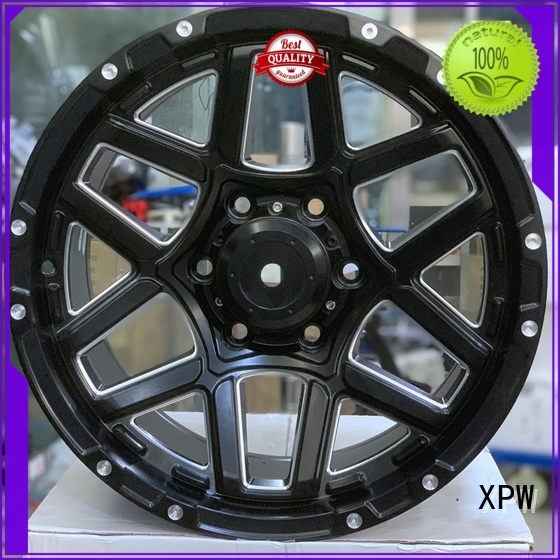 matte black 17 inch rims alloy for Toyota XPW