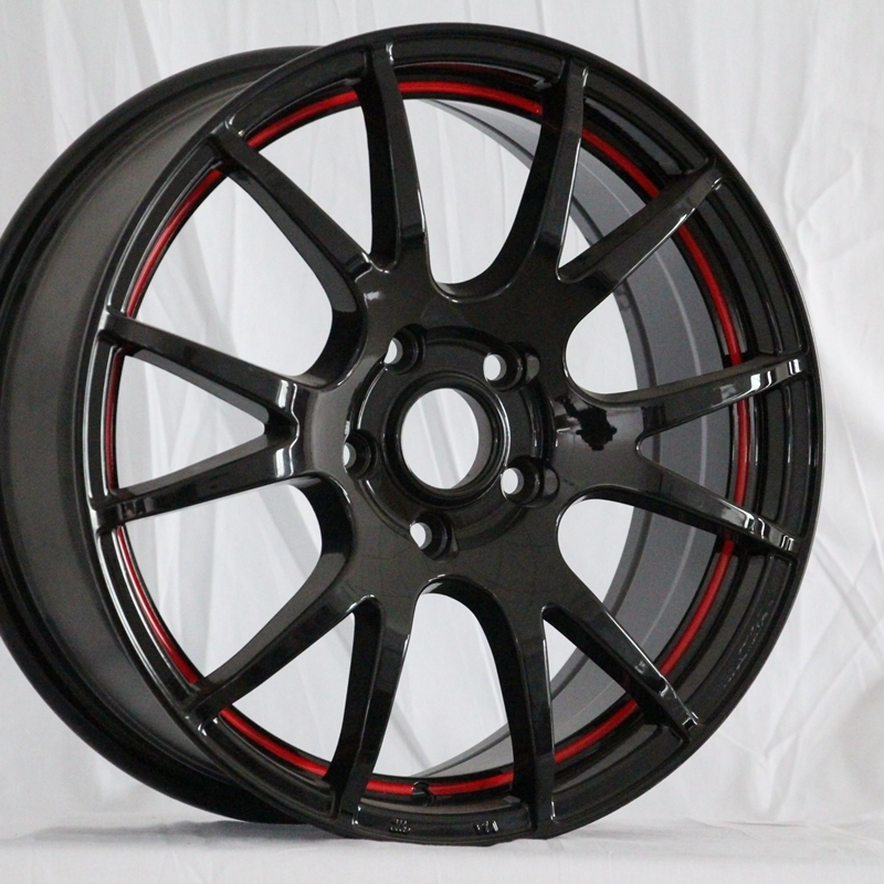0042  15inch rims black and hyper black color