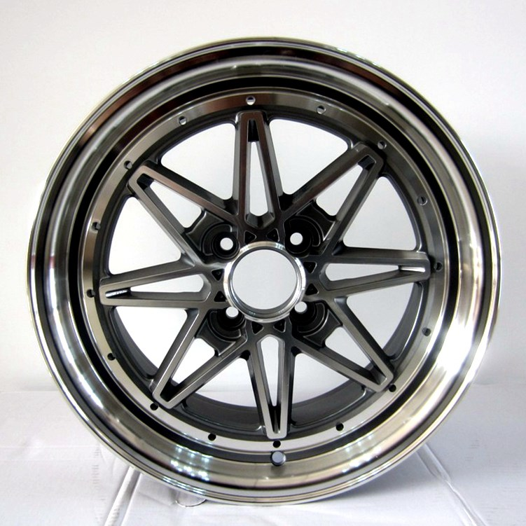 high quality 15 rims and tires black customized for cars-5