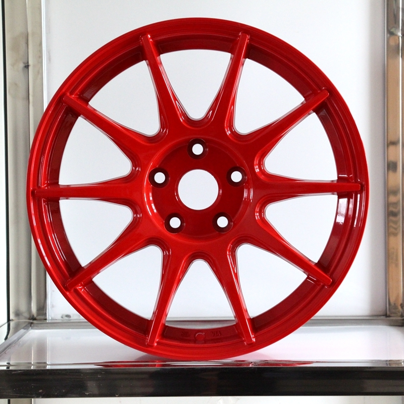 17inch red color 1040 aluminum wheels