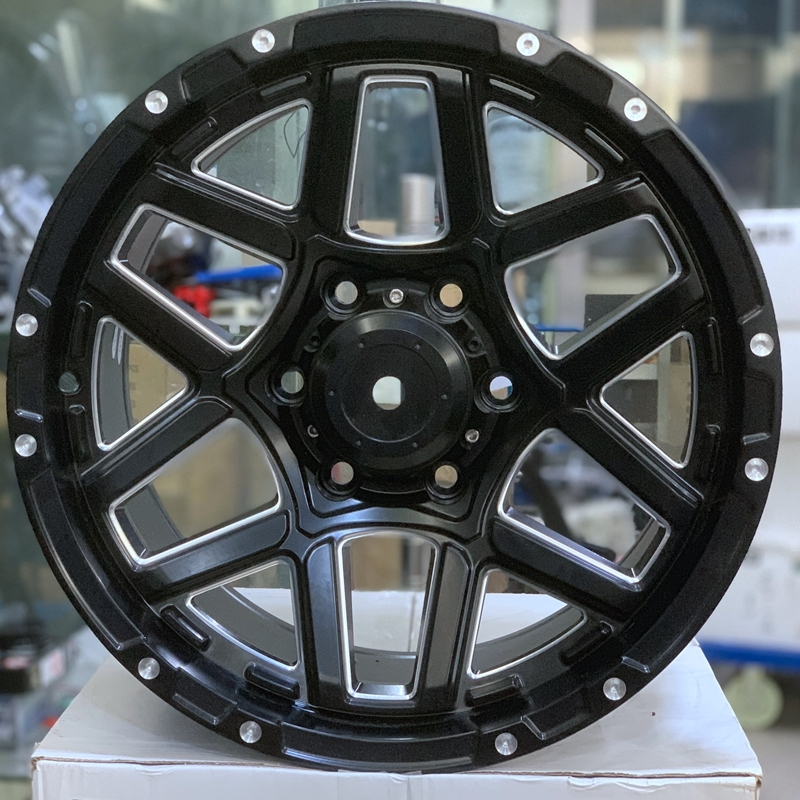 factory supply 17 inch spoke rims matte black series for Toyota