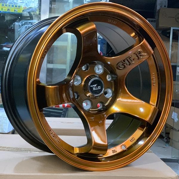 fashion 15 inch drag wheels black design for cars