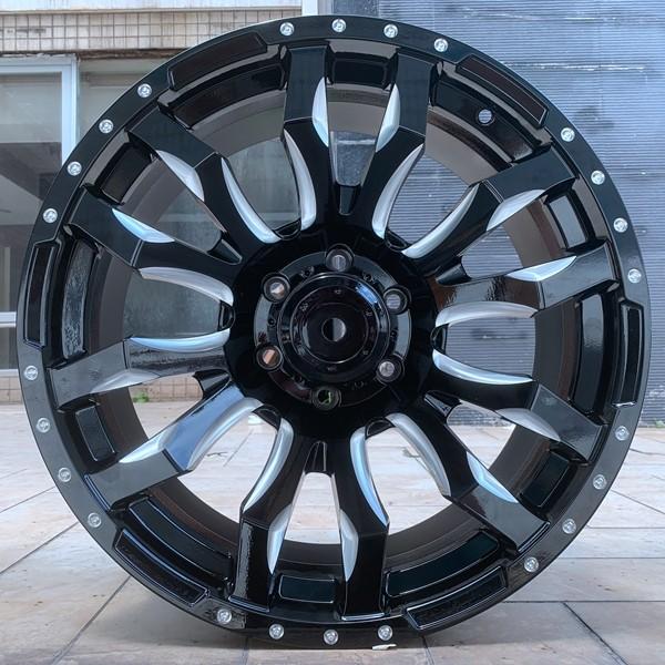 high quality all black 20 inch rims OEM for turcks-3
