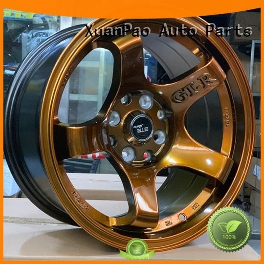 XPW white 15x8 4x100 steel wheels design for Toyota
