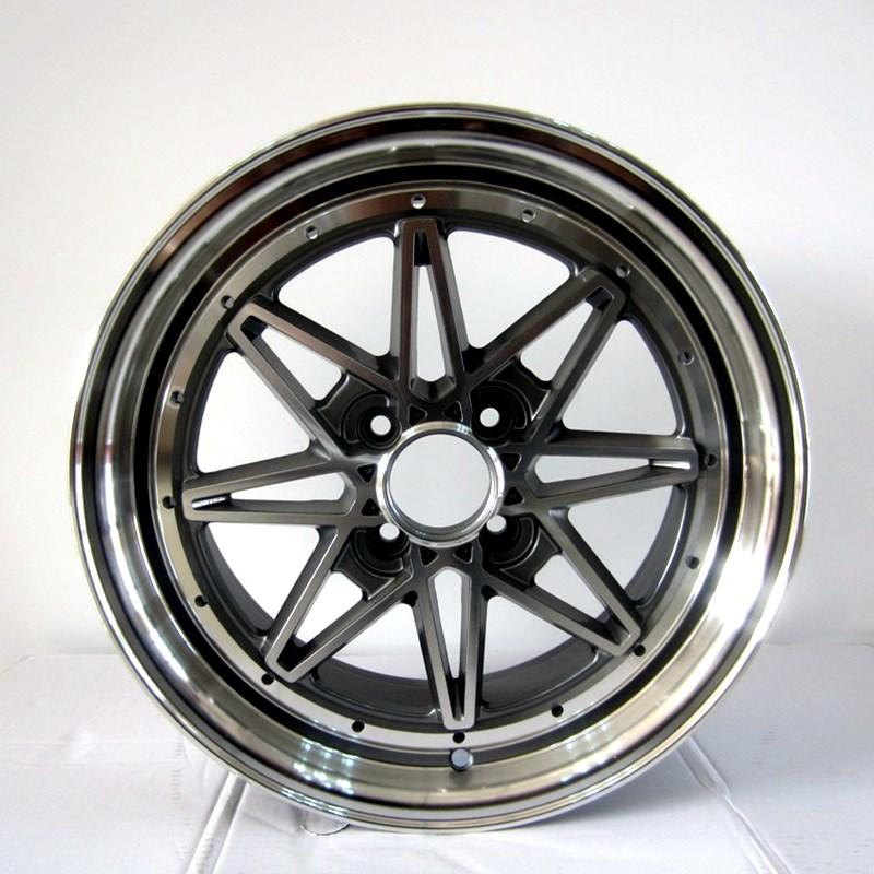 high quality 15 rims and tires black customized for cars-3