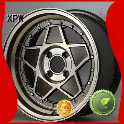 professional 15 inch black alloys power coating design for vehicle
