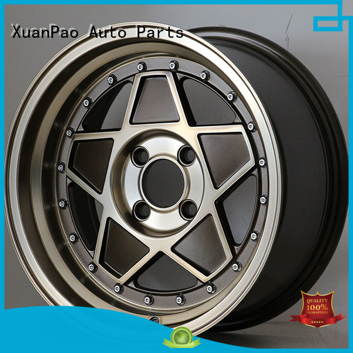 XPW black 15 4x100 steel wheels manufacturing for Toyota