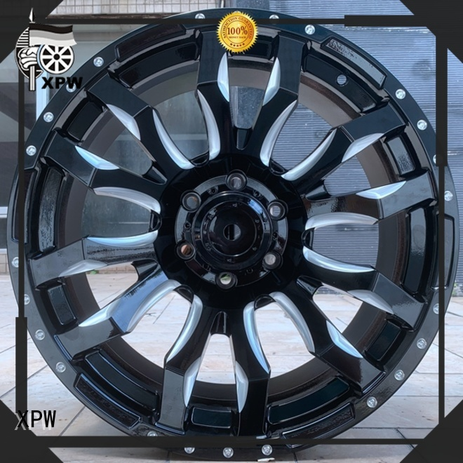 XPW 20 inch black and chrome rims supplier for vehicle