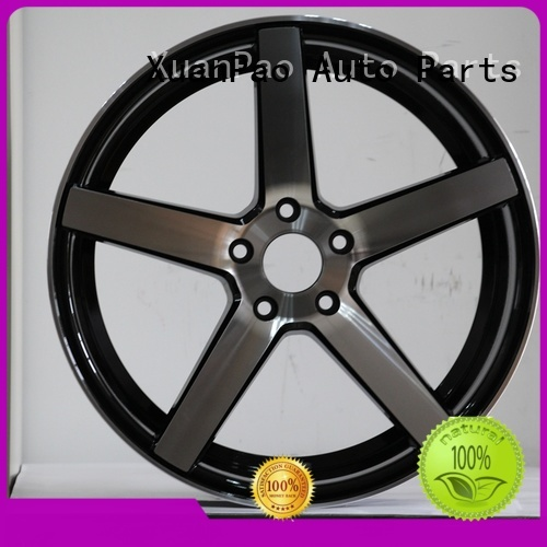 XPW low-pressure casting 16 inch black alloys design for vehicle