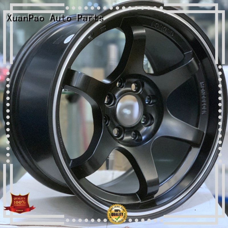 XPW fashion 15 inch steel rims power coating for vehicle