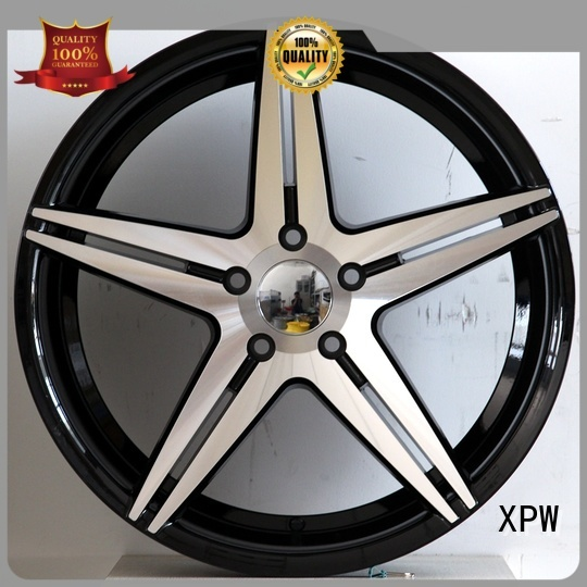 XPW factory supply black and red 20 inch rims OEM for vehicle