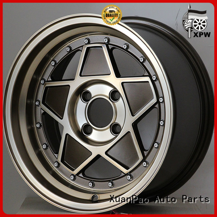 XPW power coating 15 inch black alloy wheels wholesale for Honda series